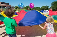 The Bert Nash summer program includes lots of outdoor time and group activities.