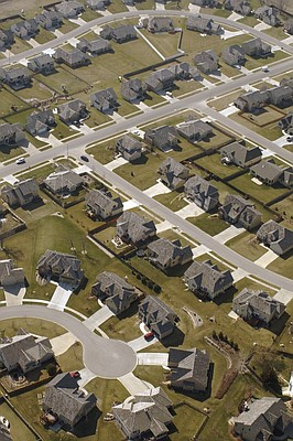 This file photo from 2006 shows a residential neighborhood north of Sixth Street and Wakarusa Drive in Lawrence.