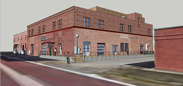 A rendering of the redevelopment of 826 Pennsylvania Street, which is planned to house a brewery, restaurant and residential development.