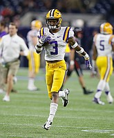FILE — LSU wide receiver Tyron Johnson (3) receives a pass during warm-ups before playing Texas Tech in the Texas Bowl NCAA football game Tuesday, Dec. 29, 2015, in Houston. Johnson announced less than a month before the start of the 2016 season his intentions to transfer. (AP Photo/Bob Levey)
