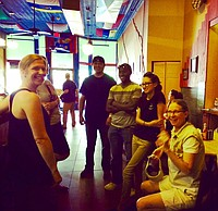 Community Coordinators visit Global Cafe