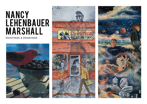 The work of Lawrence artist Nancy Marshall is now on display at the Lumberyard Arts Center.