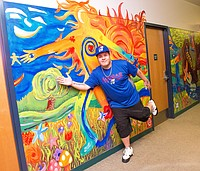 Lawrence Chapman was one of the Van Go student artists who worked on the mural at Bert Nash.