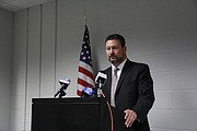 Douglas County District Attorney Charles Branson speaks at a news conference, Friday, Sept. 16, 2016.