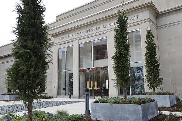 New landscaping and entrance displays greet visitors to the new renovated spaces and reinstalled galleries at Spencer Museum of Art at the University of Kansas. The museum will celebrate with a reopening of the facility and special events starting Oct. 15 at 10 a.m.