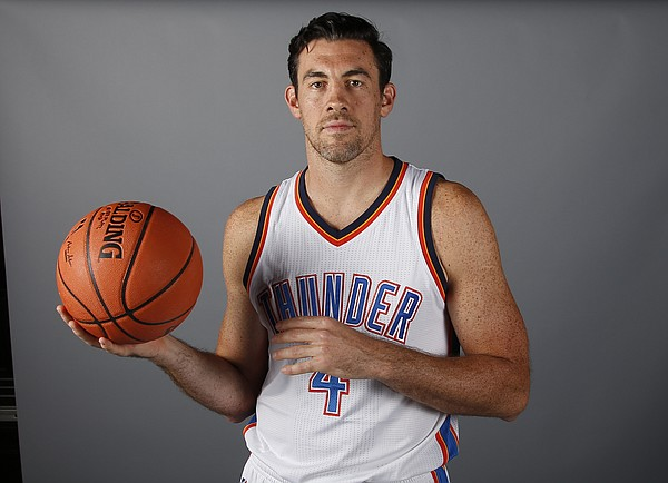 Oklahoma City Thunder forward Nick Collison is pictured during the 2016-2017 Oklahoma City Thunder Media Day in Oklahoma City, Friday, Sept. 23, 2016. (AP Photo/Sue Ogrocki)