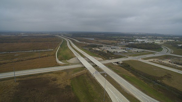 The South Lawrence Trafficway near the Haskell Avenue interchange is pictured on Monday, Oct. 31, 2016.