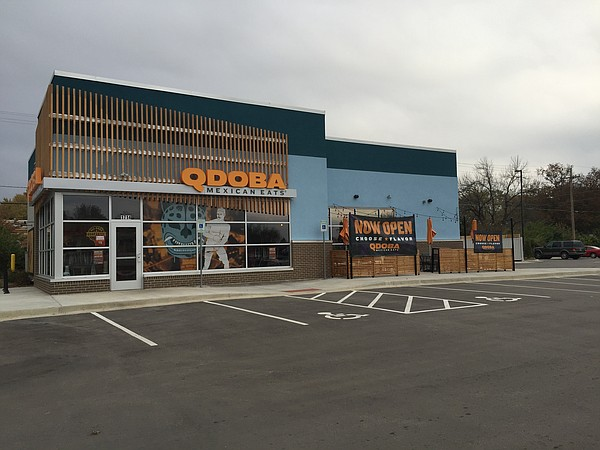 The new Qdoba restaurant on 23rd Street in Lawrence.