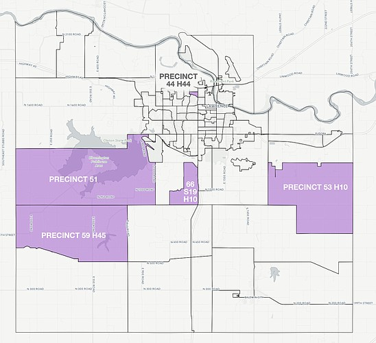 Turnout was highest in these Douglas County precincts during the 2016 presidential election. For an interactive version of this map, go to ljworld.com/turnout2016