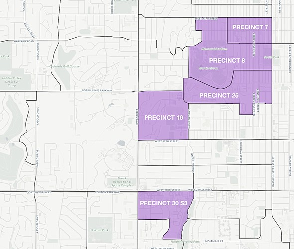 Turnout was lowest in these Douglas County precincts during the 2016 presidential election. For an interactive version of this map, go to ljworld.com/turnout2016