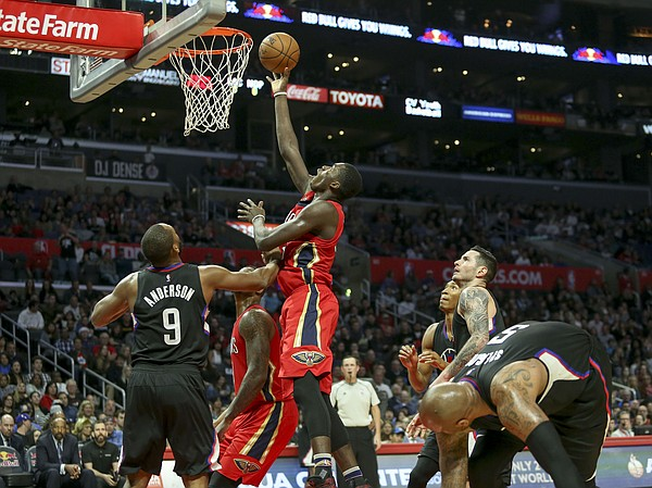 New Orleans Pelicans forward Cheick Diallo (#13) in actions during an NBA basketball game between Los Angeles Clippers and New Orleans Pelicans Saturday, Dec. 10, 2016, in Los Angeles. (AP Photo/Ringo H.W. Chiu)