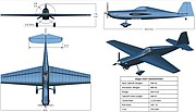 Images and specifications for the single-seat version of the Screamin' Dingo, a small plane design by a team of aerospace engineering students from the University of Kansas and Australia's Royal Melbourne Institute of Technology. The team's design won first place in the international 2016 American Institute Of Aeronautics And Astronautics Undergraduate Team Aircraft Design Competition.