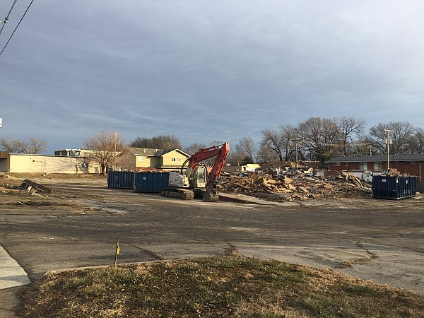 Demolition work was underway this week on the former Barbed Wire steakhouse location on south Iowa Street.