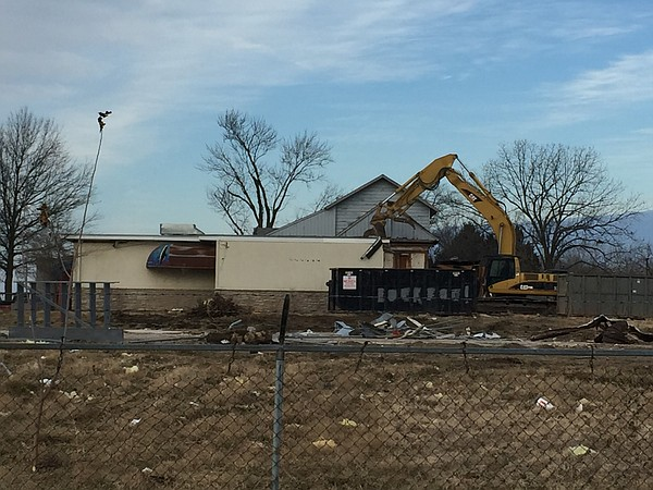 Demolition work on the former Don's Steakhouse property was underway Friday.