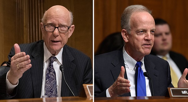 Kansas Sens. Pat Roberts, left, and Jerry Moran