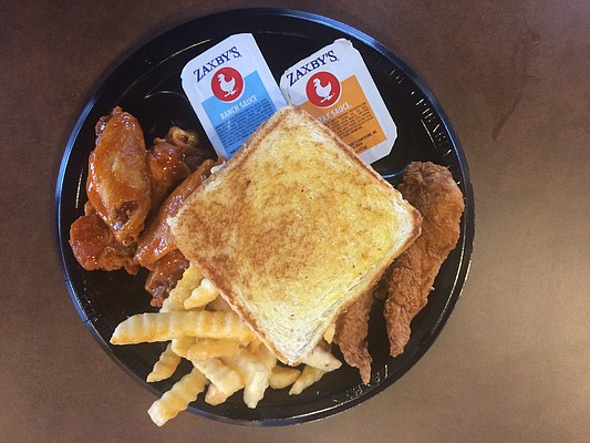 The Wings and Things Combo, at Zaxby's.