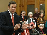 Secretary of State Kris Kobach is seeking authority to hold bifurcated elections so that people who register to vote without showing proof of U.S. citizenship would only be allowed to vote in federal races.