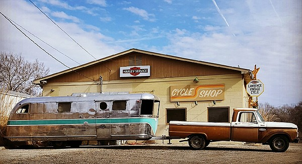 This 1946 Spartan trailer is being renovated to house the food operations of Dottie's Food Truck, a new venture from Lawrence chef Zach Thompson. Thompson is seeking approval to permanently place the food truck in the parking lot of Lawrence Vintage Cycle, 912 N. Third St.