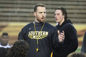 Former Southern Miss and UAB strength and conditioning coach Zac Woodfin was named Kansas football's director of strength and conditioning Feb. 23, 2017.