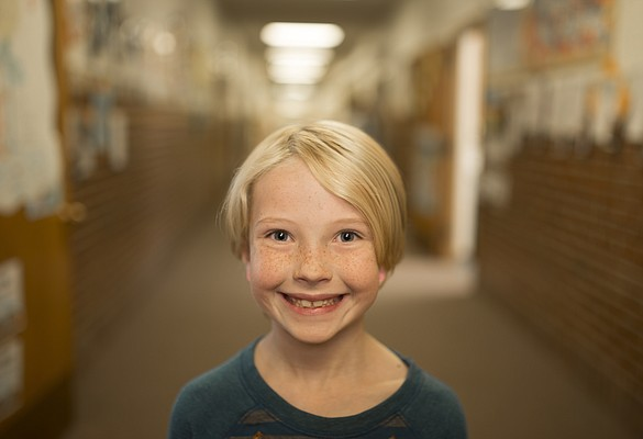 Pinckney School third-grader Ida Allen
