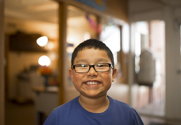Pinckney School third-grader Gabriel Chavez
