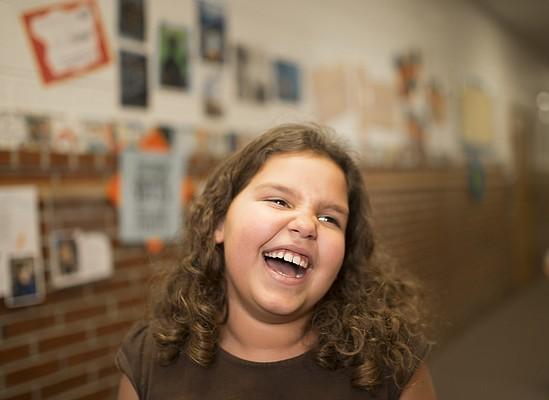 Pinckney School third-grader Meselu Demelash