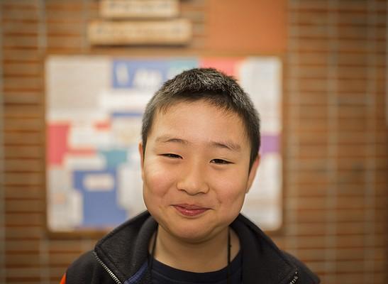 Pinckney School third-grader Alex Kim