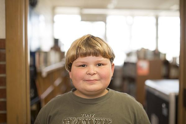 Pinckney School third-grader Tristan Walter