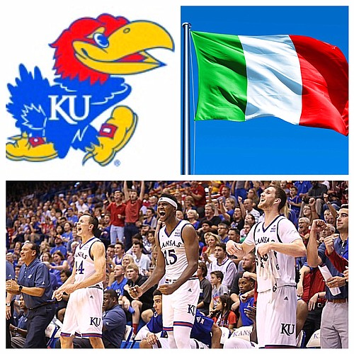 The KU men's basketball team will play four exhibition games in Italy in August.