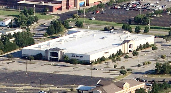 Lawrence's JCPenny store, 3311 Iowa St., is shown in this aerial file photo from July 2014.