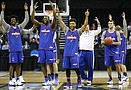 Kansas and Purdue NCAA practices and press conferences