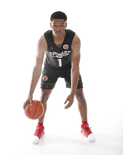 Five-star point guard Trevon Duval at this year's McDonald's All-American game. (Photo courtesy of the McDonald's All-American game)