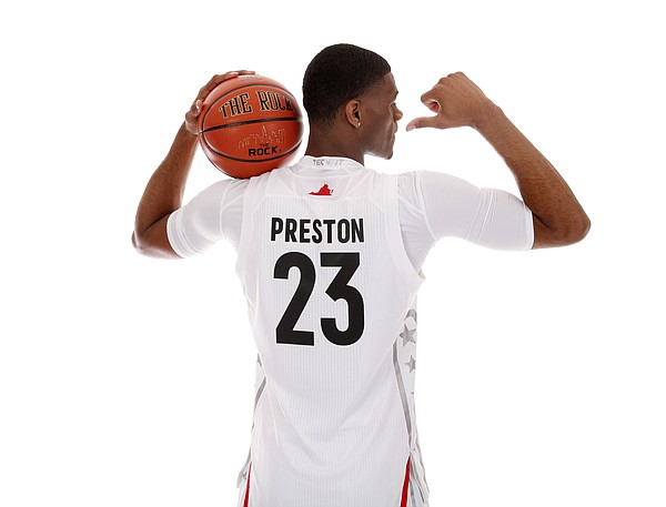 Class of 2017 KU signee Billy Preston at the McDonald's All-American Game. (Photo courtesy of McDonald's All-American Game promotions)