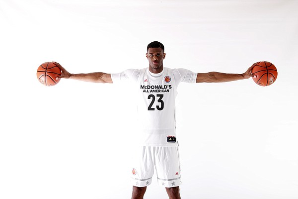 Five-star Kansas signee Billy Preston, a 6-foot-9, 220-pound forward from Oak Hill Academy, participated in the McDonald's All-American Game on Wednesday, March 29, 2017, in Chicago.