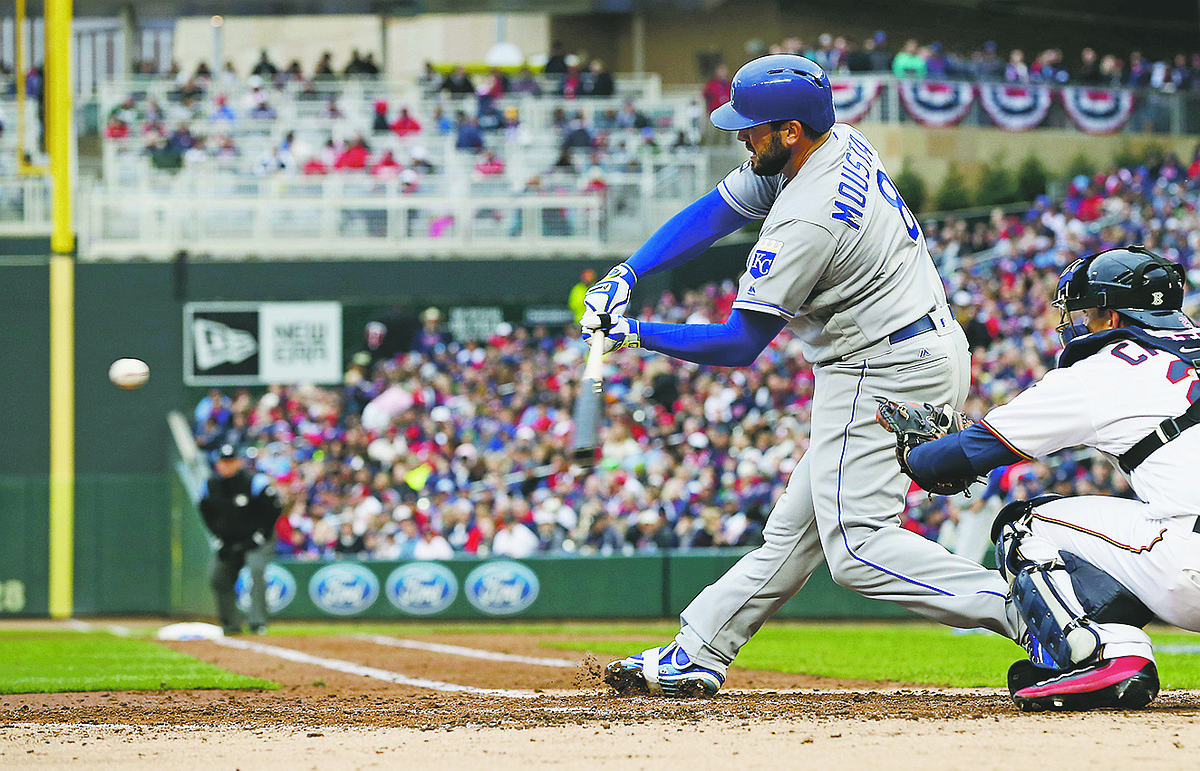 Photo Kansas City Royals 39 Mike Moustakas Hits A Solo Home