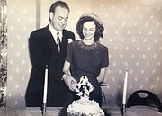 Joe and Ramona Smith at their wedding on Oct. 23, 1948. In 1952 the couple opened Joe's Bakery in Lawrence.