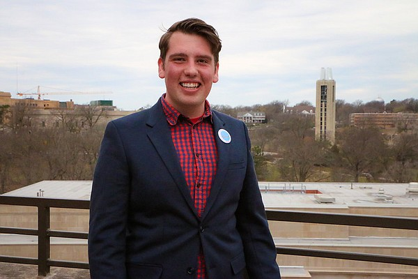 University of Kansas 2017-18 Onward coalition student body presidential candidate Chance Maginness.