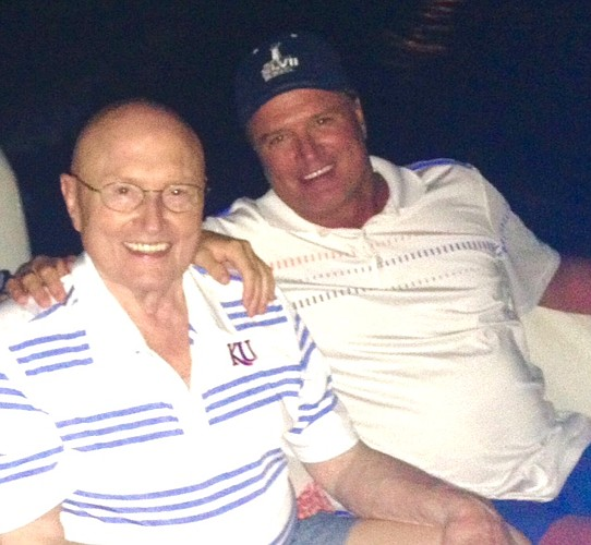 Kansas basketball coach Bill Self, right, and his father, Bill Self Sr., enjoy some time together in the summer of 2016 at the family's condo in Florida.