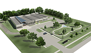 A rendering of the Lawrence Human Society's site plan for its new facility.