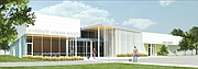 A rendering of the exterior of the Lawrence Humane Society's new facility.