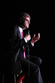 "Promotional photo for Garrison Keillor's ""Just Passing Through"""