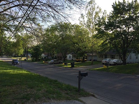 A look at some of the houses that would be demolished as part of the LMH parking plan along Michigan Street.