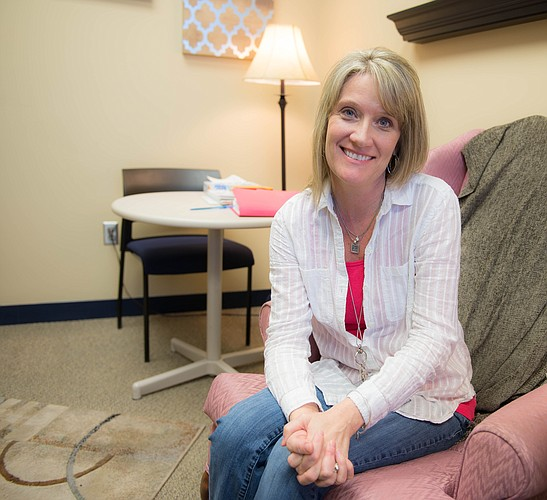 Shelly Goscha, Adult Outpatient Program therapist, is part of a team of therapists that works with clients through individual and group therapy.
