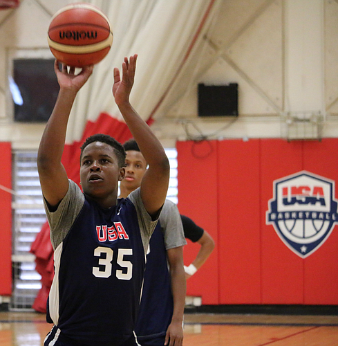 Charlie Moore at this week's U19 USA Basketball tryout in Colorado Springs. (Photo courtesy of USA Basketball)