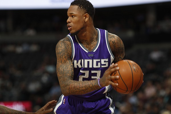 Sacramento Kings guard Ben McLemore (23) in the second half of an NBA basketball game Monday, March 6, 2017, in Denver. The Nuggets won 108-96. (AP Photo/David Zalubowski)