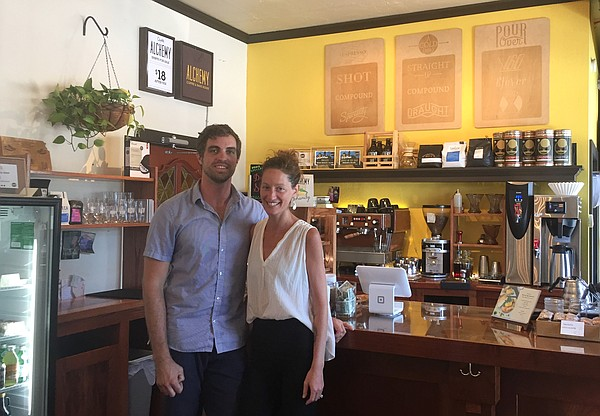 Alchemy owners Benjamin Farmer and Joni Alexander inside their current shop at 19th and Massachusetts.