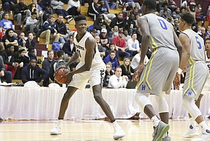 Westtown School's Mo Bamba #11 in action against Hillcrest Prep during a high school basketball game at the 2017 Hoophall Classic on Saturday, January 14,, 2017, in Springfield, MA..