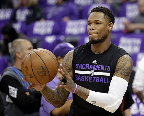 FILE — Former Sacramento Kings guard Ben McLemore, who signed as a free agent with Memphis, before an NBA basketball game against the Phoenix Suns, Tuesday, April 11, 2017, in Sacramento, Calif. The Kings won 129-104. (AP Photo/Rich Pedroncelli)