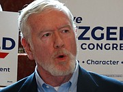 """State Sen. Steve Fitzgerald, R-Leavenworth, formally launched his campaign for the Kansas 2nd District congressional seat Thursday, July 13, 2017, saying he fully supports President Donald Trump&squot;s agenda. """"We are no longer a part of the international climate scam,"""" he told about two dozen supporters at a gathering in Topeka."""