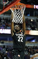 Big East's Mitchell Robinson dunks against Big West's during the second half of the McDonald's All- American boys high school basketball game in Chicago, Wednesday, March 29, 2017. Big West won 109-107. (AP Photo/Nam Y. Huh)